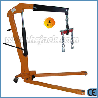 Mobile 2 Ton Foldable Engine Crane dengan Load Leveler